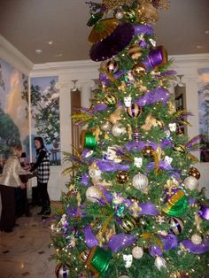mardi gras christmas tree this is what we are doing this year!