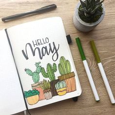 Bullet Journal Monthly Cover Page May Cover Hand Lettering Cactus Drawin . - Bullet Journal Monthly Cover Page May Cover Hand Lettering Cactus Drawin – sheet # - Bullet Journal Doodles, Planner Bullet Journal, Bullet Journal Cover Page, Bullet Journal Notebook, Bullet Journal School, Bullet Journal Spread, Bullet Journal Ideas Pages, Bullet Journal Layout, Journal Covers