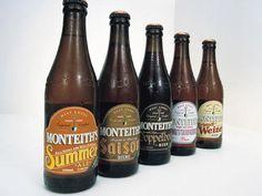 Monteith's Specialty Beer packaging by Designworks. Oh Beautiful, Beer Bottles, Beverages, Drinks, Beer Labels, Cheers, Vodka, Retro Vintage, Branding