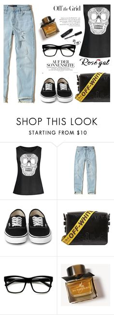 """""""OFF"""" by nataskaz ❤ liked on Polyvore featuring Hollister Co., Off-White, Burberry, Bobbi Brown Cosmetics and vintage"""