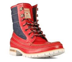 Dsquared2 shoes Denim Full Brogues and Lug Boots.
