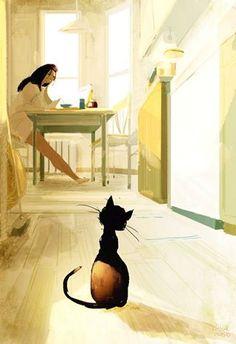 #pascalcampion. Es increíble lo mucho que los gatos pueden comunicarse sin decir una sola palabra.