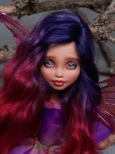 OOAK custom repaint Monster High Howleen Wolf doll Fuchsia | Etsy Golden Moustache, Monster High Lagoona, Pixie, Howleen Wolf, Muse, Fuchsia Plant, Georgia, Wig Making, Kew Gardens