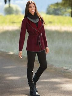 Women's Reversible Wrap Jacket and Pants Outfit | Sahalie
