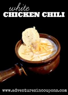 Hungry? This white chicken chili recipe is the perfect solution! Warm, comforting and filling! All in a budget and freezer friendly soup!