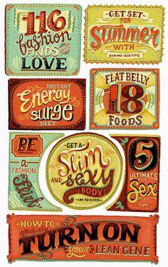 Elly Walton Illustrations - Headlines in Hand-Lettering