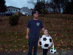 homemade soccer ball costume