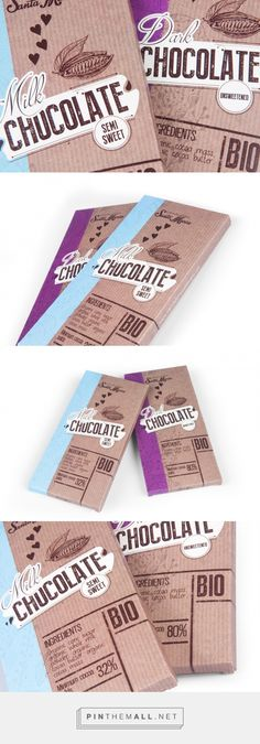Coffee Packaging design Chocolate Bars - In this post, we suggest a creative idea for the packaging design of a chocolate bar with rough paper effect