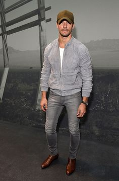 David Gandy attends the Coach 1941 Spring Summer 2017 Men's Show on June 13 2016 in London England