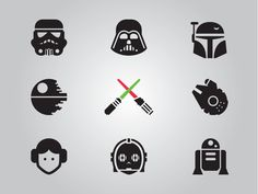 Star Wars Glyphs, Updated by Jory Raphael