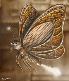 Steampunk butterfly - could be the focal piont for a necklace