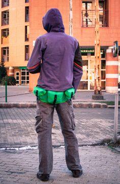 Green  Festival Fanny Pack Hip Bag Pocket belt by LeaflingoOo, $39.00