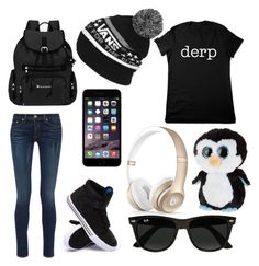 """""""First day of school"""" by broken-dreamer1 ❤ liked on Polyvore featuring rag & bone, Supra, Sherpani, Vans, Ty, Beats by Dr. Dre and Ray-Ban"""