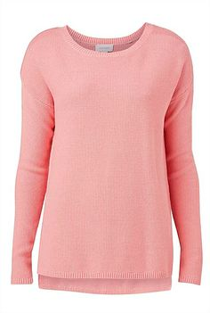 Witchery Moss Stitch Knit in pink