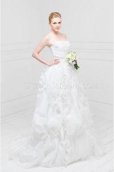 Trägerloses Luxuriöse Dramatisches Brautkleider für Prinzessin