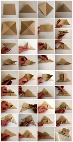 Marca-páginas origami corazón  | DEF Deco - Decorar en familia