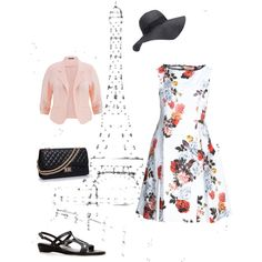 Strolling in Paris by stefshiz on Polyvore featuring Adrianna Papell, Chanel and Forever 21