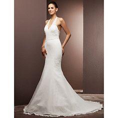 Lanting+Bride®+Trumpet+/+Mermaid+Petite+/+Plus+Sizes+Wedding+Dress+-+Classic+&+Timeless+/+Glamorous+&+DramaticVintage+Inspired+/+Open+–+USD+$+139.99