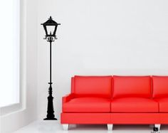 Street Lamp Wall Decal  Gas Lamp Wall Sticker  Old Fashioned by DecalLab   Etsy