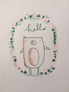 This is Gold  - Sketchbook  Aless Baylis  #bear #hello #sketchbook…