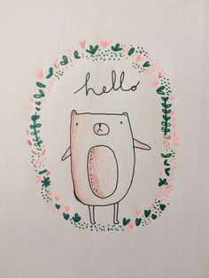 This is Gold - Sketchbook Aless Baylis #bear #hello #sketchbook #illustration #drawing #sketch