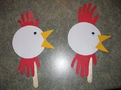 "This ""hand-y"" rooster puppet is perfect for a 2017 celebration of Chinese New Year—the year of the rooster! January 28, 2017."
