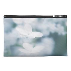 Beautiful white blossoms travel accessory bags carry-all, pouch, studio, photo, photography, artwork, buy, bag, tote, drawstring, hydrangea, blossom, blossoms, bloom, blooming,  flower, flowers, tender, love, summer, garden, white, light, spring