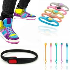 Renkli Silikon Ayakkabı Bağcık Seti Shoe Laces (12 Adet)
