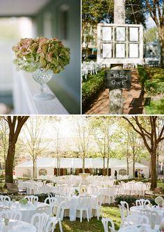 outside fall/summer wedding