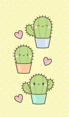 My friend and I love cacti so this= cuteness Cute Easy Drawings, Mini Drawings, Cute Kawaii Drawings, Doodle Drawings, Cartoon Drawings, Cactus Drawing, Cactus Art, Cactus Plants, Cactus Painting