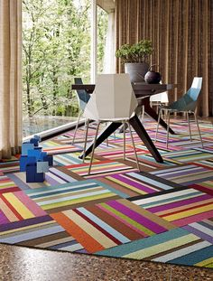 Vibrant colors and patterns like this Parallel Reality design