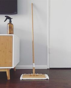 Is it possible to be in love with a swiffer? Cause I am. Because it's bamboo, and it matches my furniture.