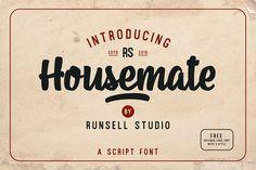Housmate + Shilkmen Sans (Bonus) by Runsell Studio on @creativemarket