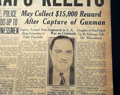 Machine Gun Kelly Gangster | Details about MACHINE GUN KELLY Gangster & Wife Captured Prohibition ...