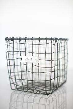 Set of Four Zinc Wire Storage Baskets - www.blanchome.com