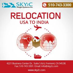 If you are #Relocating to #India from USA with your entire household items then you can opt for cargo shipping, we are help in shipping all the household items including furniture, laptops and TVs.