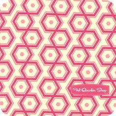 Notting Hill Magenta Hexagons Yardage SKU# PWJD062-MAGEN