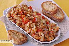 Ensalada de berenjenas, gambas y cherries Mexican Food Recipes, Ethnic Recipes, Spanish Food, Spanish Recipes, Eggplant Recipes, Fish And Seafood, Recipe Collection, Bruschetta, Pasta Salad