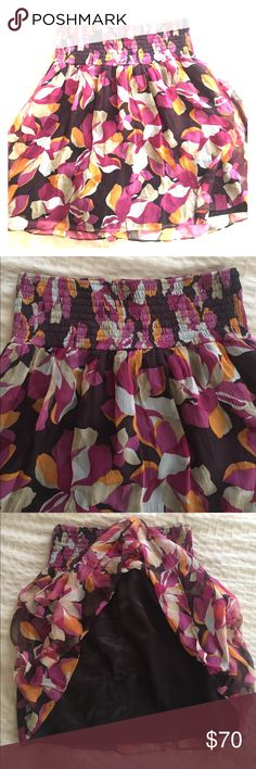 Laundry by Shelli Segal silk skirt Pink orange beige cream and brown silk skirt. Used. Women's. In great condition. Laundry by Shelli Segal Skirts