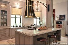 2017 house beautiful kitchen of the year; dream kitchens; barstools