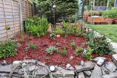 Added new mulch to protect the moisture in the grown around the new plants but also to reduce weeds.