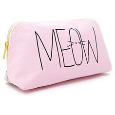 Meow Graphic Makeup Bag - Forever 21 - Polyvore