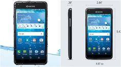 """Kyocera Hydro View"" Smartphone Anti Air 1 Jutaan - http://kangtekno.com/kyocera-hydro-view-smartphone-anti-air-1-jutaan/"