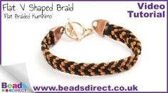 Flat V shaped braid bracelet