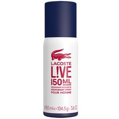 Lacoste Live Pour Homme Deodorant Spray 150ml Lacoste Live fragrance opens with the intense energy and freshness of lime, awakening your senses. Its zesty edge reflects the unconventional nature of Live and proudly stands out as one of the fragra http://www.MightGet.com/april-2017-2/lacoste-live-pour-homme-deodorant-spray-150ml.asp