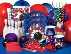 bowling party supplies - Buscar con Google
