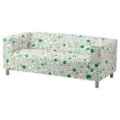 KLIPPAN Loveseat cover - Marrehill pink/green - IKEA