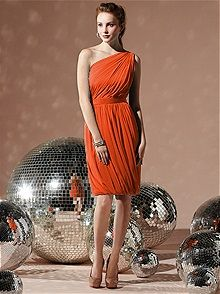#Burnt Orange Bridesmaid Dress