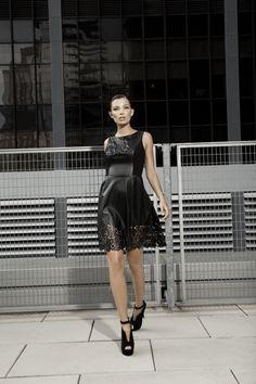 Little Black Leather Dress: Photo Credits Macy's