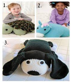 Quartered Heart Crochet: Crochet Gifts for Christmas: Free Crochet Pillow Pet Pattern